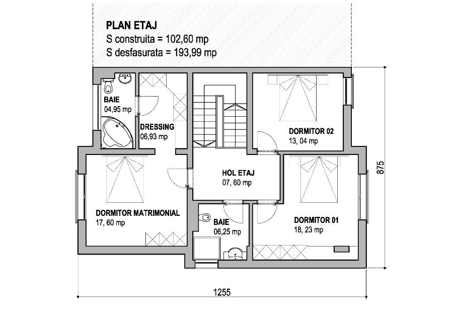 Proiect casa p 1e - Plan de casas ...