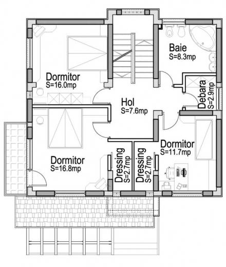 Proiect casa parter si etaj - Plan de casas ...