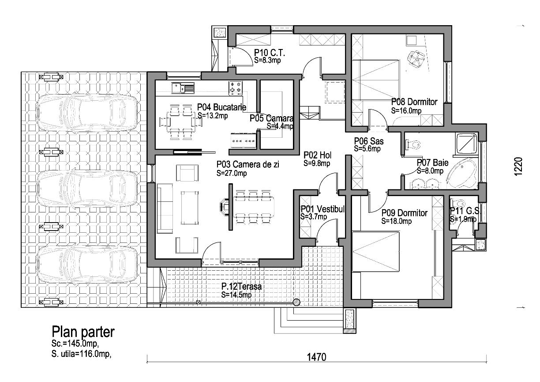 Proiect casa parter - Plan de casas ...