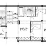 plan etaj casa la calcan