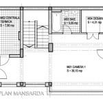 plan mansarda casa la calcan