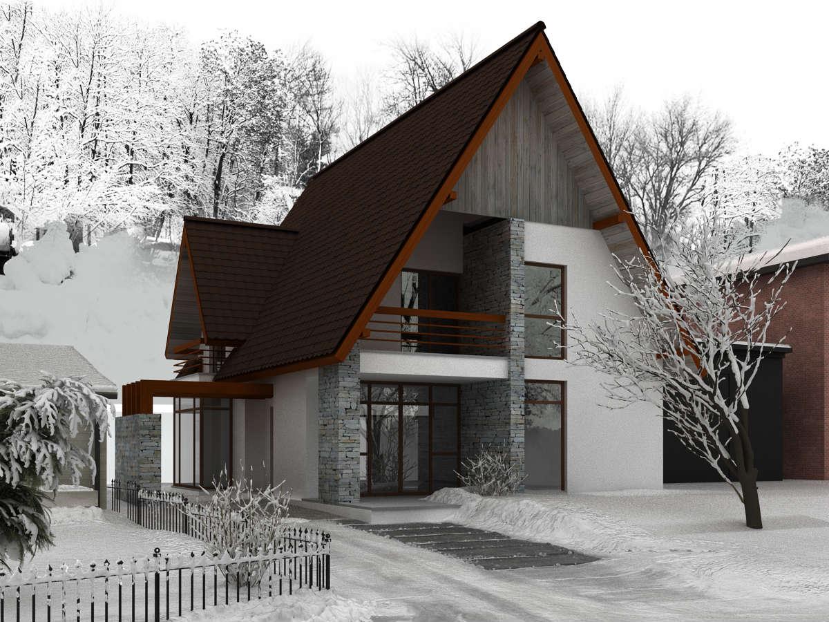 Casa montana for Arhitectura case cu mansarda